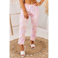 Stay Like This Forever Tie Dye Sweatpants (Pink)