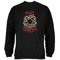 Christmas Hail Santa Pentagram Wreath Mens Sweatshirt