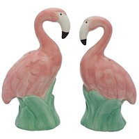 Ceramic Flamingo - Salt and Pepper Shaker Set