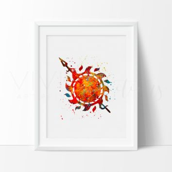 Game of Thrones, House Martell Watercolor Art Print
