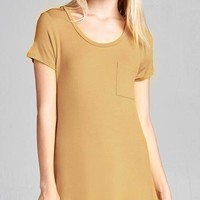 In The Pocket Tee - Maize