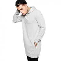 Extended Side Zipper Kanye Style Hoodie