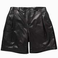Leather Shorts with Trim | Choies