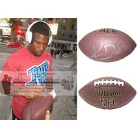 Knile Davis Autographed NFL Wilson Football, Green Bay Packers, Proof Photo