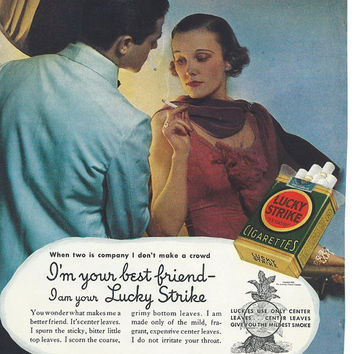 Vintage Ad-1935 Lucky Strike Cigarette-Ad Art For Framing-Vintage Ephemera-1930's Wall Art-Print Ads-Collectible Advertising Wall Decor