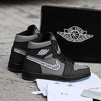 Dior x Nike Air Jordan 1 AJ1 High-Top Basketball Shoes Sneakers Shoes