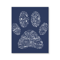 Paw Doodle - Canvas Wall Art