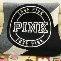 Pink Victoria Secret Vs Printed Comfortable Soft Fleece Warm Travel Blanket Sofa Cover-1