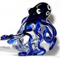 Octopus Sherlock Hand Blown Glass | andromedaglass - Accessories on ArtFire