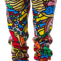 Lazy Oaf All You Can Eat Trackpants Multi Small