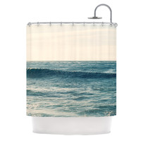 "Myan Soffia ""Balance"" Blue Tan Shower Curtain"