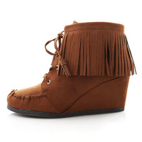 Frill Moccasin Booties