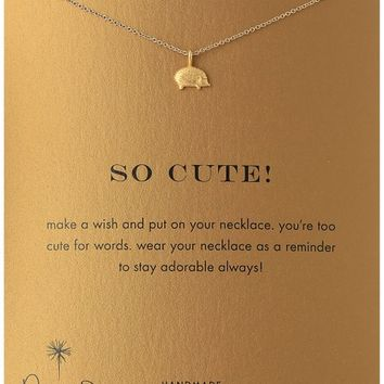 """Dogeared Gold Dipped So Cute-Hedgehog Necklace, 16"""""""
