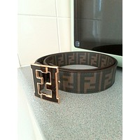 "New Men's Fendi Zucca Tobacco belt size - 32"" tan brown monogram *Reduced*"