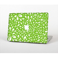 The Light Green & White Floral Sprout Skin Set for the Apple MacBook Pro 15""