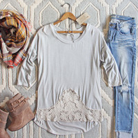 The Frosty Lace Tee