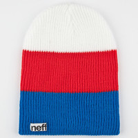 Neff Trio Beanie Red/White/Blue One Size For Men 24591294801