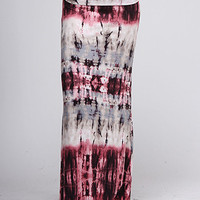 Purple Tie-Dye Maxi Skirt