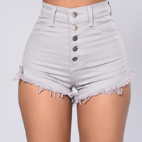 Daisy Pusher Shorts - Lilac Grey