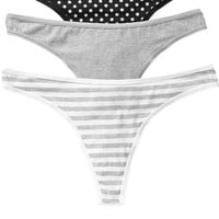 Old Navy Womens Jersey Thong 3 Packs