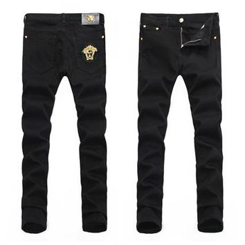 VERSACE Trending Men Casual Denim Pants Trousers Jeans