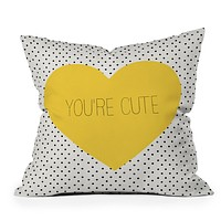 Allyson Johnson You Are Cute Throw Pillow