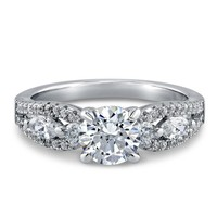 SOLITAIRE RING WITH ROUND SWAROVSKI ZIRCONIA IN 925 STERLING SILVER