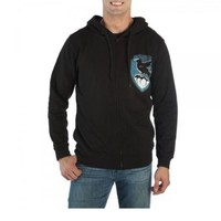 Harry Potter House Crest Ravenclaw Adult Zip Up Hoodie