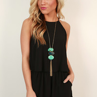 Hello Honey Romper in Black