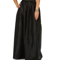 Sale-black Grand Maxi Skirt