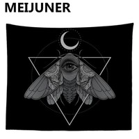 Meijuner Tarot Tapestry Wall Hanging Halloween Black Tapestry Sun Moon Mandala Boho Psychedelic Hippie Tapestry Home Decor MJ158