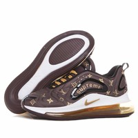 Nike Air Max 720 x Louis Vuitton LV x Supreme Brown Running Shoes - Best Deal Online