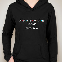 "Friends TV Show F.R.I.E.N.D.S ""Friends & Chill"" Unisex Adult Hoodie Sweatshirt"