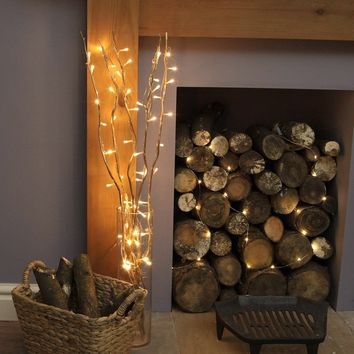LED Lighted Natural Willow Branches