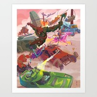 The Adventure Zone Pedals to the Metal Art Print by Evan Palmer