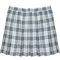 WHITE GRID TENNIS SKIRT