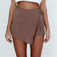 Hot Sale Women's Fashion Irregular Bandages Summer Pants Shorts [6325944193]