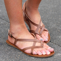 MIA: Cruise Sandals {Cognac}