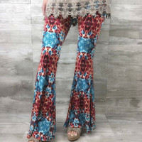 Wildfire Tie Dye Flared Pants