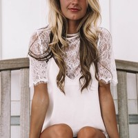 Lacey Love White & Cream Delphine Lace Cami Top