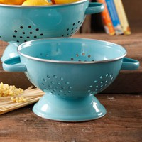 The Pioneer Woman 5-Quart Metal Turquoise Colander - Walmart.com