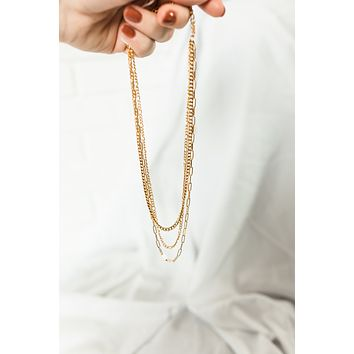 18K Multi Chain Layer Necklace