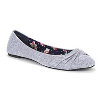 Women's RUBY Floral Canvas Knotted Toe Ballet Flat
