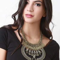 Moon Drop Heavy Chain Necklace