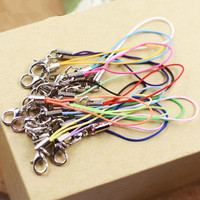 10 pieces Nylon cell phone mobile chain straps keychain Charm Cords DIY Hang Rope Lanyard neck Free shipping rope