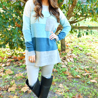 Stack Me Up Sweater: Grey