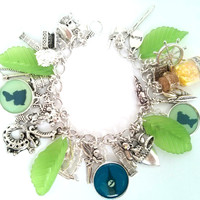 Peter Pan charm bracelet - yellow fairy dust