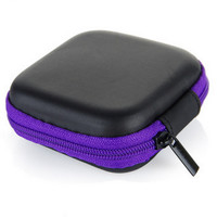 Mini Cute Square Clutch Earbud Charger Coin Purse Pocket Hard Case