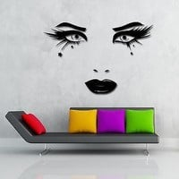 Wall Stickers Vinyl Decal Beatiful Eyes Long Lashes Full Lips Unique Gift (z1921)