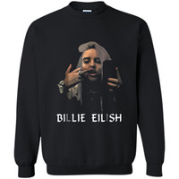 Christmas Fun Billie-Lover-Eilish-Music- Fan Cool Gift Printed Crewneck Pullover Sweatshirt